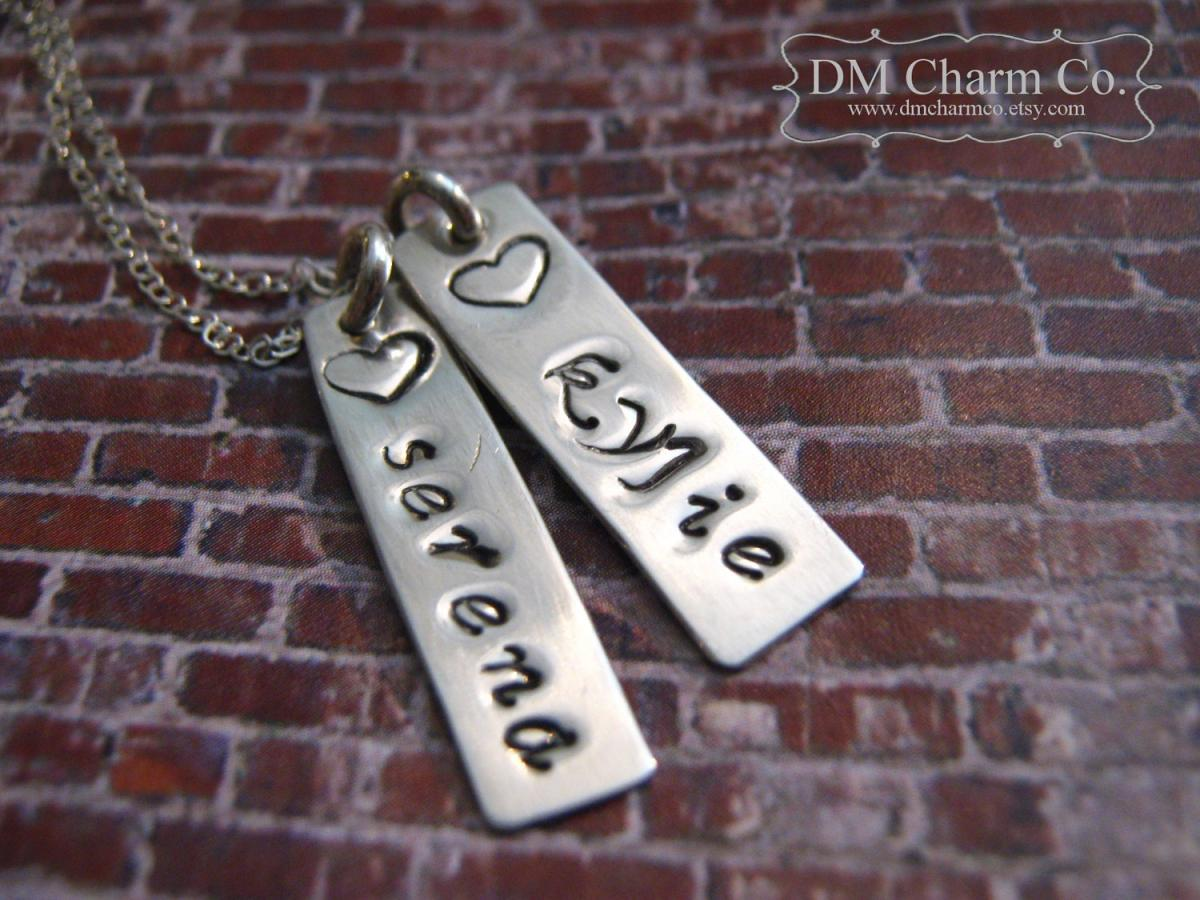 one exclusive jewellery including name initial collections personalised with chupi necklace children disc gold necklaces